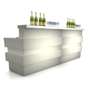 Illuminated bar counters