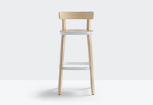 Wooden bar stool FOLK